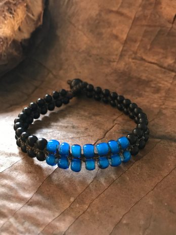 Black & sea blue bracelet