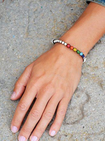 Chakra & rainbow bracelet