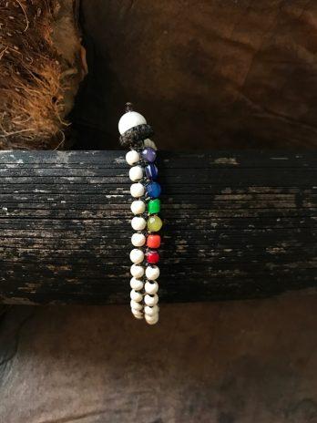 Double line rainbow bracelet
