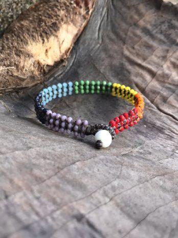 Glittering rainbow bracelet
