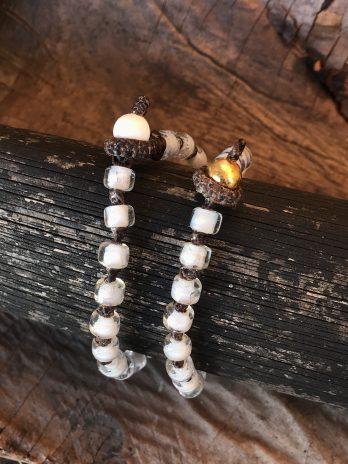 White hearted bracelet
