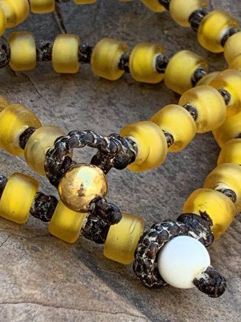 Golden yellow glass bracelet
