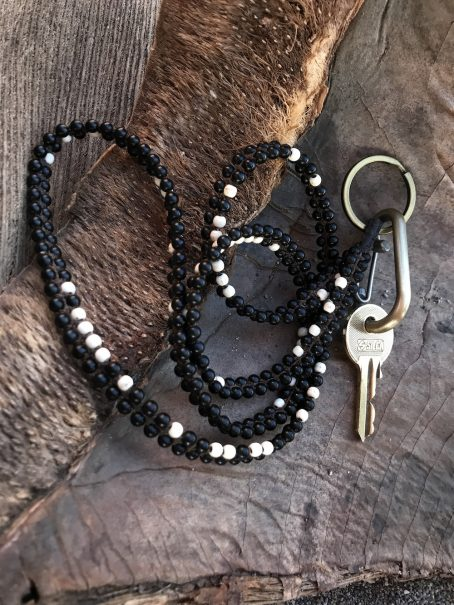 black and white keycord