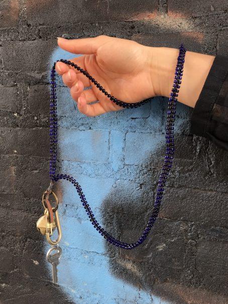 long indigo blue keycord