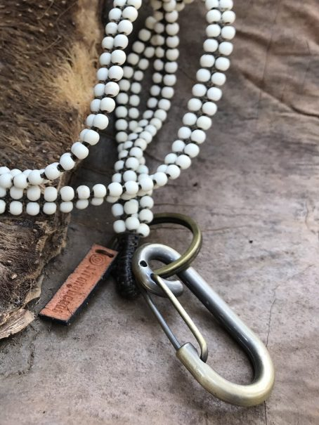 long white stone keycord