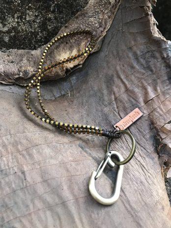 Short golden hematite keycord