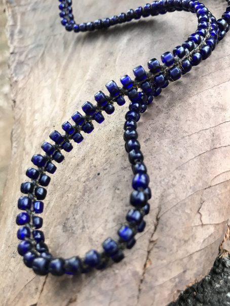 short indigo blue keycord