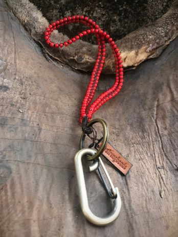 short red hearted keycord