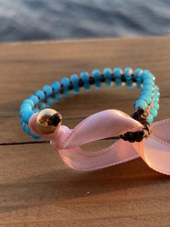 Baby blue baby bracelet