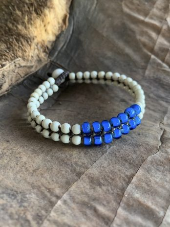 White & sea blue bracelet
