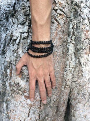 Black versatile wrapping jewel – necklace, bracelet or anklet