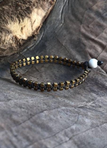 double line hematite bracelet