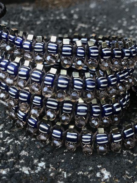 indigo hematite centipede jewel