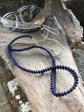 long Indigo & ginger eyeglasses chain