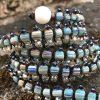 mosaic striped blue centipede jewel