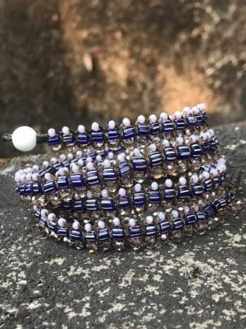 Striped indigo blue Centipede jewel