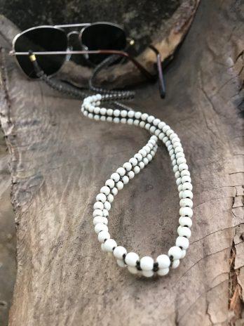 White stone & transparent eyeglasses chain