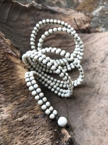 White versatile wrapping jewel – necklace, bracelet or anklet